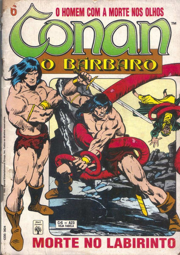 conan nº 6 - ed. abril - morte no labirinto - out/92
