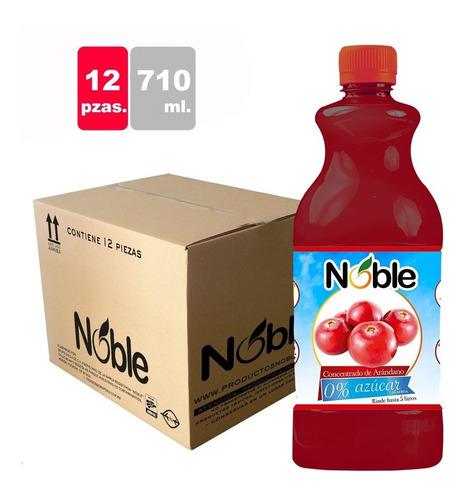 concentrado 0% azúcar de arándano noble 12 pzas de 710 ml