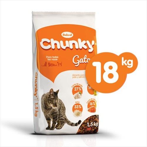 concentrado chunky para gato por 18 kilos