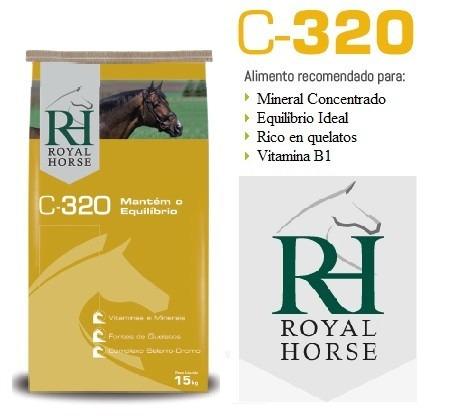 concentrado mineral para caballos, royal horse c320 15 kg