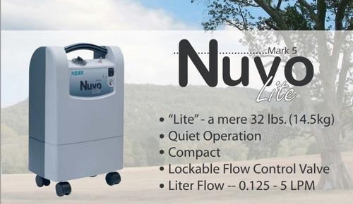 concentrador de oxigeno 5 litros nuvo lite marca nidek