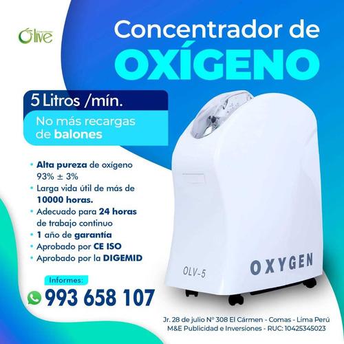 concentrador de oxígeno 5litros