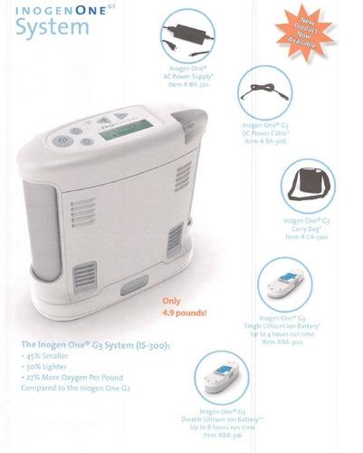 concentrador de oxigeno portatil inogen one g3 + bolsa