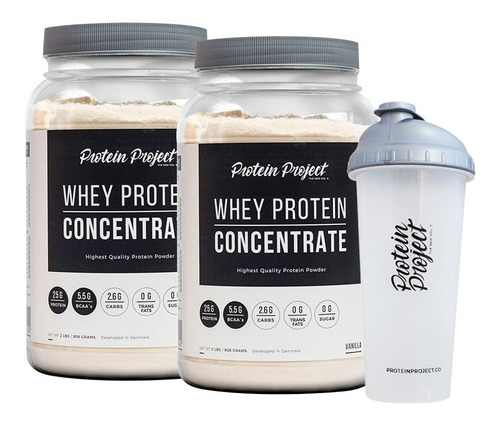 concentrate protein project 2 lb x 2 unidades + vaso