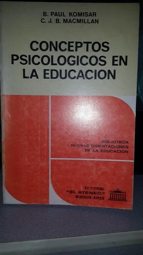 conceptos psicologicos en la educacion paul komisar