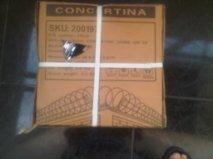 concertina acero galvanizado - importado - 8 metros lineales