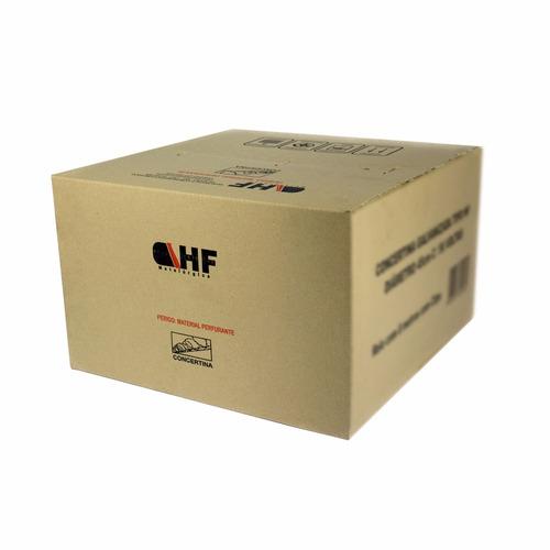 concertina dupla 24 metro x 45 cm + kit -  frete grátis