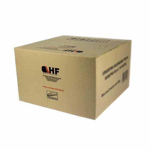 concertina dupla eletrificada 45 cm ( preço metro ).+ kit