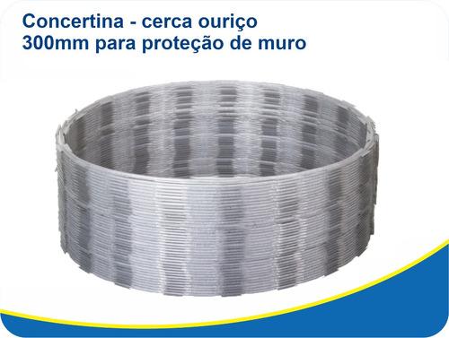concertina ouriço cerca arame farpado proteção 300mm
