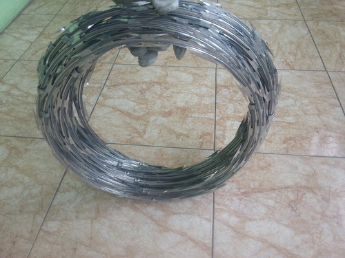concertinas acero galvanizado de 6 mts x 45 cm de diametro