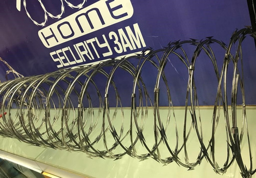 concertinas de acero inoxidable 6 mtrs x 45 cm diámetro
