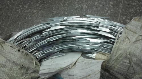 concertinas galvanizadas 6mts, 45cm de diamt y doble hojilla