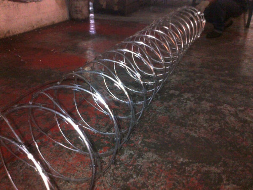 concertinas galvanizadas de 6mtros x 45 cm de diámetro