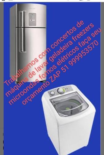 concertos de máquina de lavar geladeira freezers microondas
