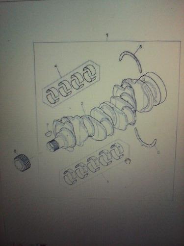 concha de biela para motor 1104 o cat 3054 a 010 u5me0026a