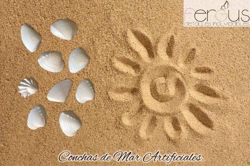 conchas de mar para decorar artificiales paquete de 60 pieza