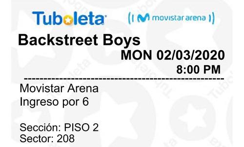 concierto backstreet boys bogotá 02 de marzo 2020