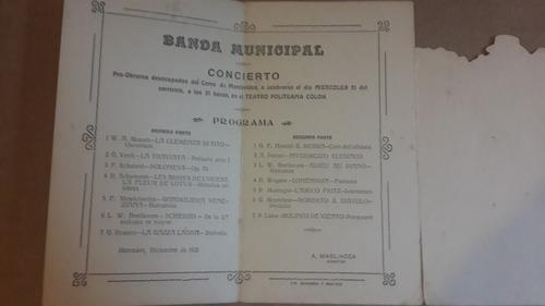 concierto banda mun mercedes, pro obreros desocupados 1921