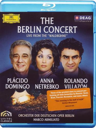 concierto de berlin - domingo, netrebko & villazon - bluray