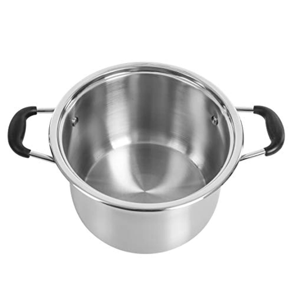 CONCORD Stainless Steel Stock Pot with Glass Lid Concord Cookware COMIN18JU058186 Induction Compatible 5 QT