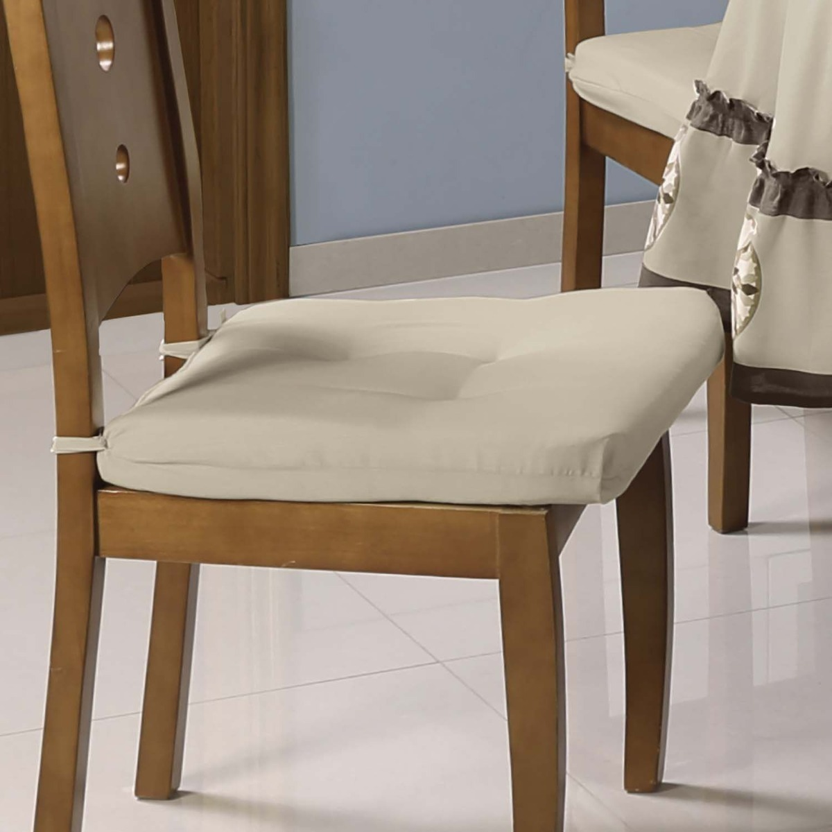 Concord jgo de 4 cojines para silla de comedor caramel en mercado libre - Cojines redondos para sillas ...