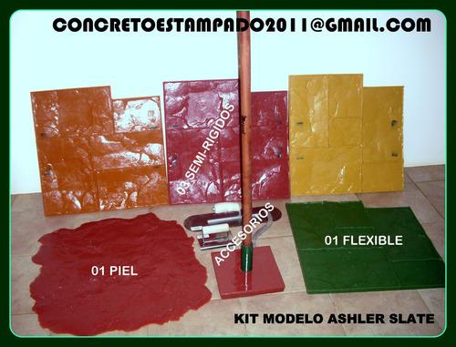 concreto piso estampado moldes fibra  productos construcción