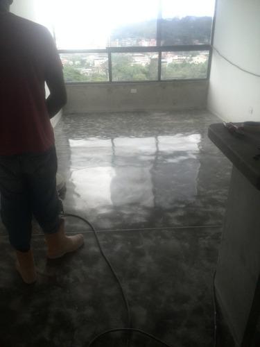 concreto pulido, requemado, preparado de losas para epoxi