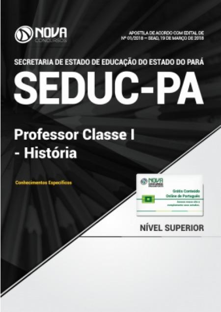 concurso seduc pa 2018 apostila professor história frete gts r$ 59