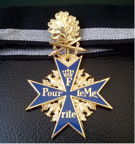 condecoración alemana  blue max  pour le merite ww1