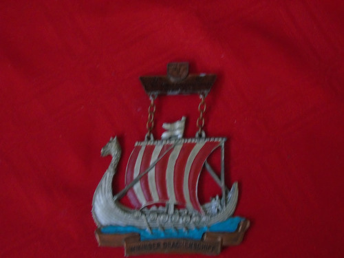 condecoración drakkar vikingo por participación en regata