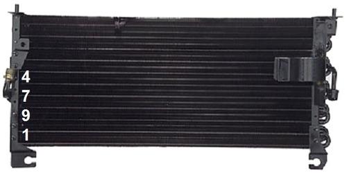 condensador aire acondicionado avenger 1995 - 1999 nuevo!!!