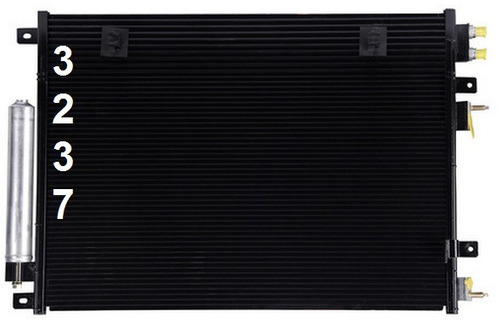 condensador aire acondicionado chrysler 300 / 300c 2005 2010