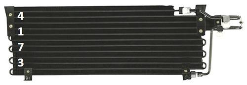 condensador aire acondicionado comanche 4.0l l6 1987 - 1992
