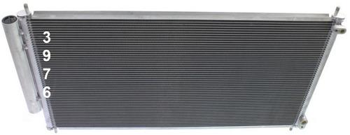 condensador aire acondicionado honda civic coupe 2012 - 2015