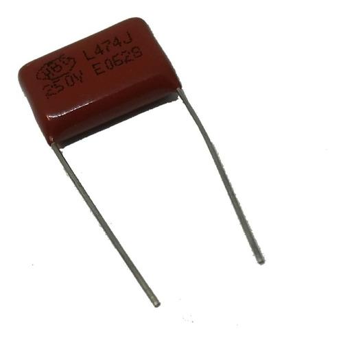 condensador cap poliester 470 k 250v