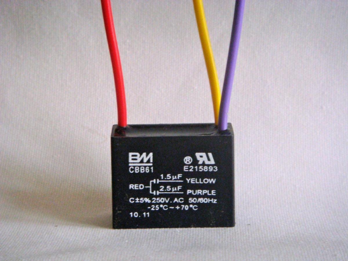 Condensador Capacitor 1 5uf 2 5uf Cbb61 Ventilador Techo