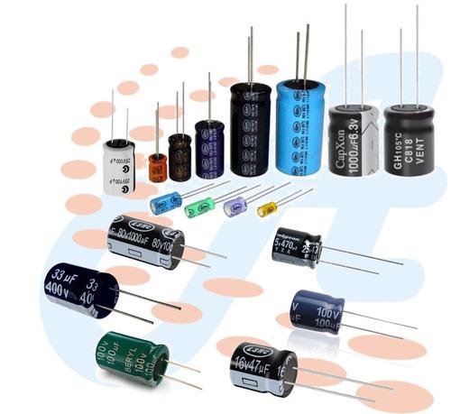 condensador capacitor electrolitico 4.7uf/50v paq de 5unids