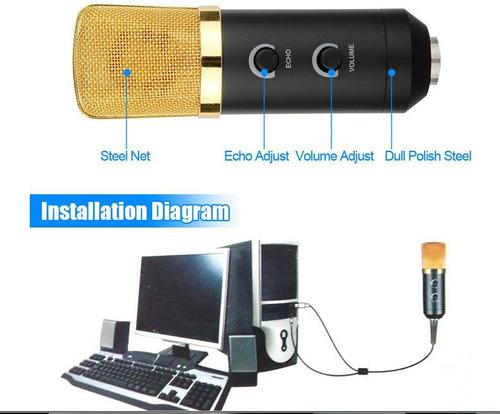 condensador com microfone