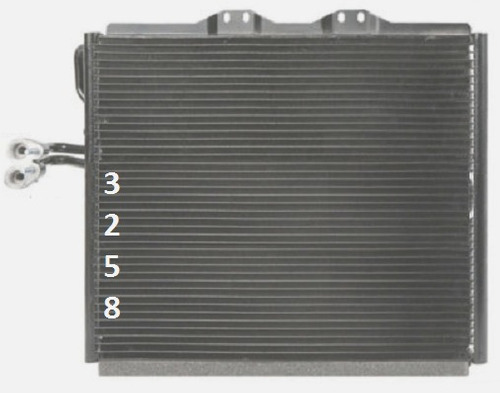 condensador de a/c jeep wrangler  2004 - 2004 nuevo!!!
