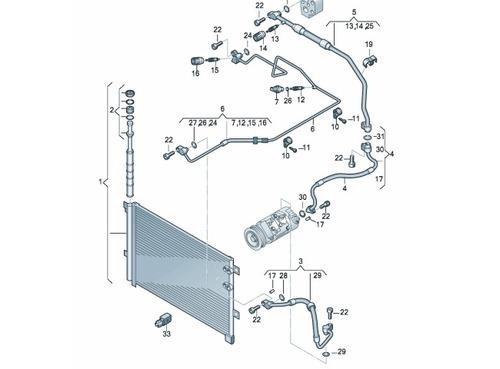 condensador de agente refrige rante com reservatde liquido