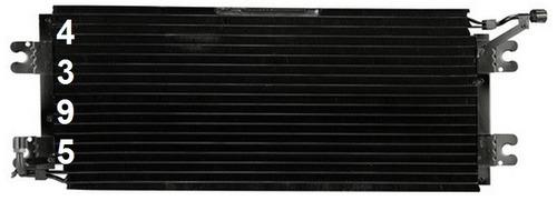 condensador de aire acondicionado chevrolet p30 1995 - 1999