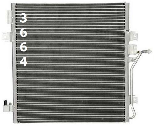 condensador de aire acondicionado dodge nitro 2007 - 2011