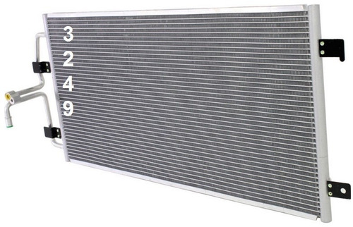 condensador de aire acondicionado grand prix 2004 - 2005