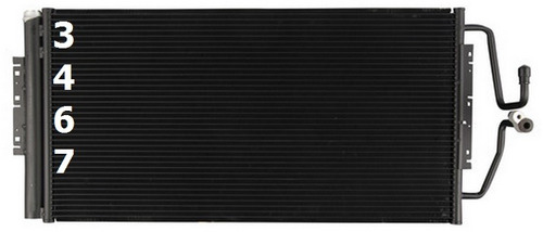 condensador de aire acondicionado grand prix v6 2006 - 2008