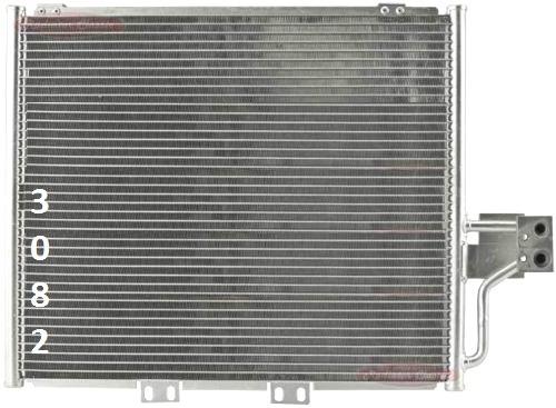 condensador de aire acondicionado jeep wrangler  2000 - 2006