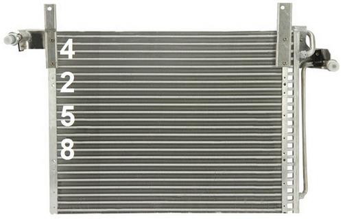 condensador de aire acondicionado mazda b2300 2.3l l4 1994