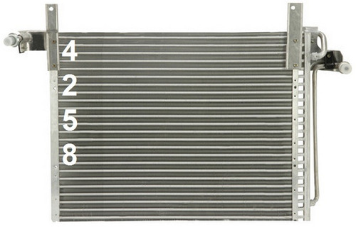 condensador de aire acondicionado mazda b4000 4.0l v6 1994