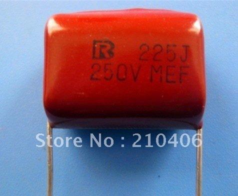 condensador de poliéster  2.2 micros  250 voltios
