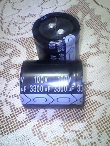 condensador electrolítico de 3300uf a 100v