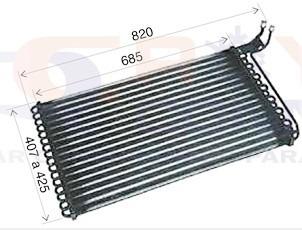 condensador gm d20 85 até 96 tubo aletas  - novo original